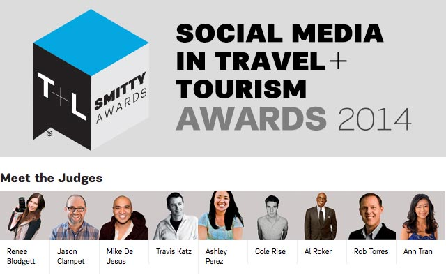 Social Media in Travel + Tourism Awards 2014 - Travel + Leisure SMITTY Awards