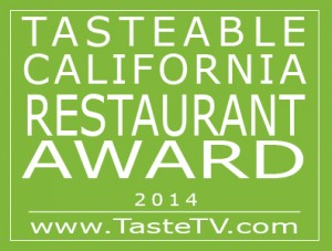 TasteTV 2014 Tasteable California Restaurant Award