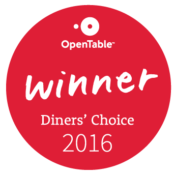 badge OpenTable Diners Choice Award Winner 2016 round