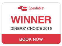 OpenTable Diners' Choice Award Winner 2015