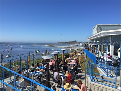 Sam's Chowder House ocean view outdoor dining wins best seafood in the San Francisco Bay Area