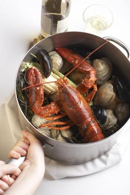 Clambake-in-a-pot from Sam's Chowder House