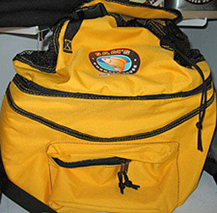 Sam's yellow bag