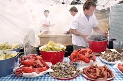 Chef Rossman prepares his famous New England Style Lobster Clambake