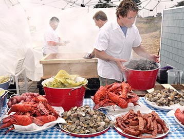 lobster clambake and Chef Lewis Rossman