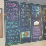 Sam's Chowder House specials board