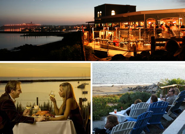Sam's Chowder House romantic oceanfront dining