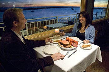 Ocean view dining at Sam's Chowder House