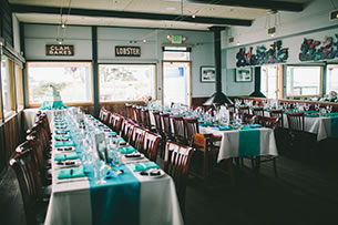 Weddings at Sam's Chowder House - Harbor View Room