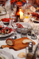 Weddings at Sam's Chowder House - lobster clambake