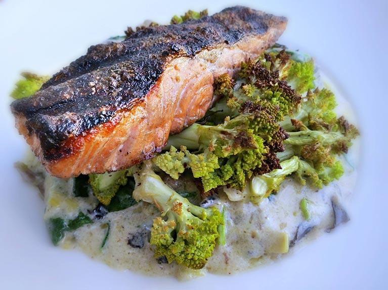grilled steelhead trout