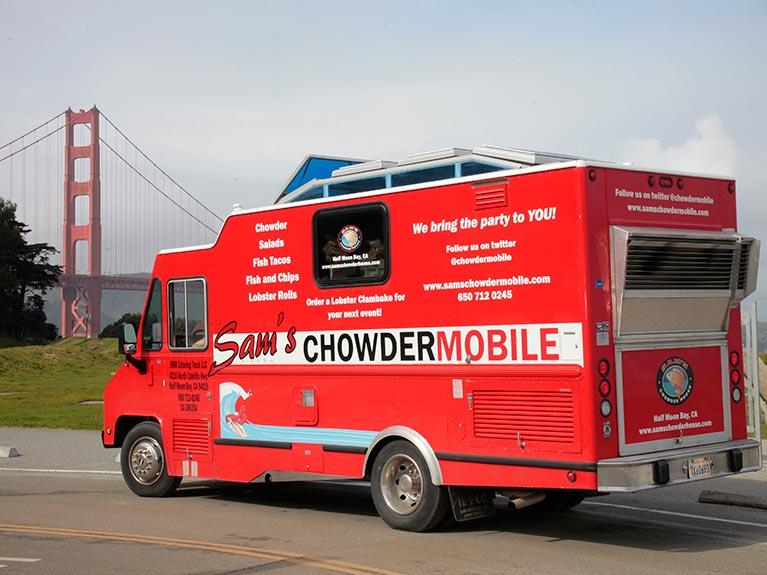 ChowderMobile near Golden Gate Bridge